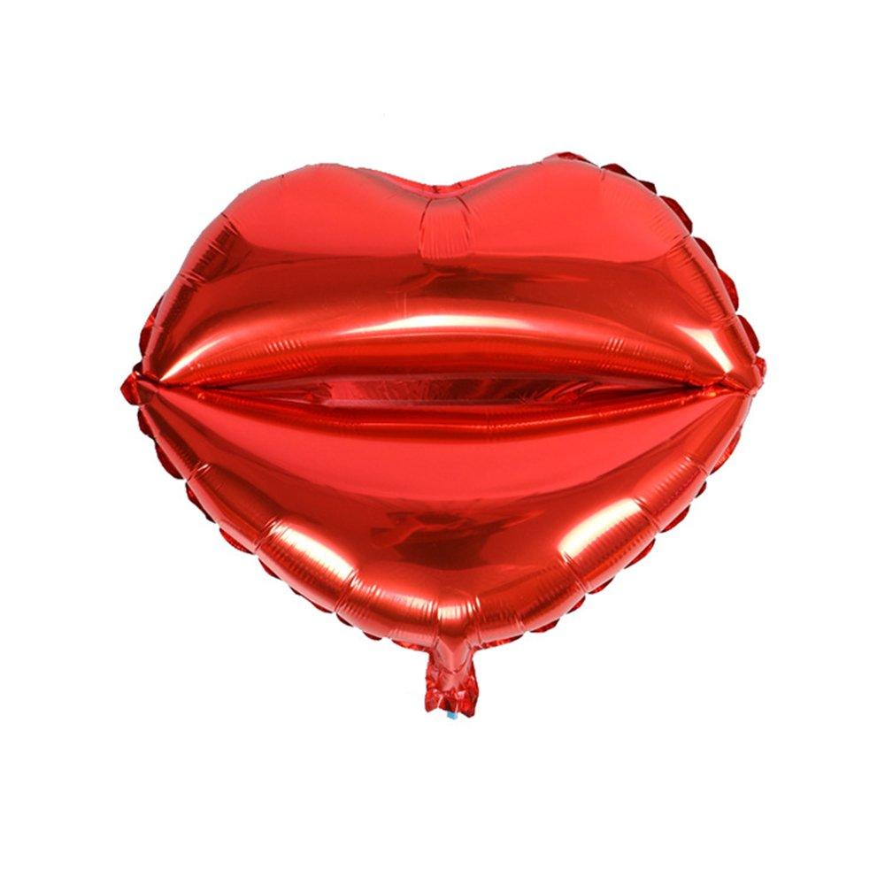 Skyllc Salle de Mariage décorée de Ballons en Aluminium Ballon à Feuille Rouge à lèvres