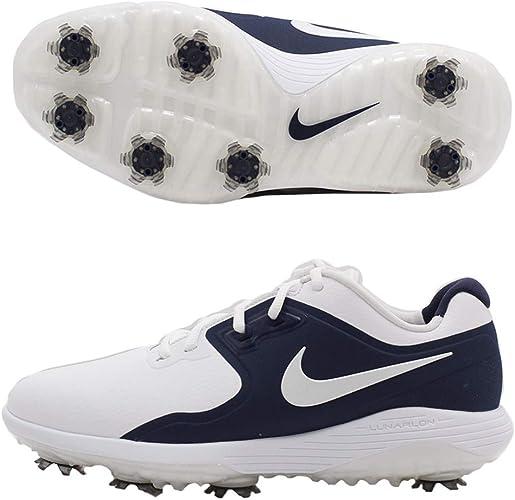 Amazon Com Nike Vapor Pro Golf Shoes 2019 White Metallic White Midnight Navy Volt Wide 8 5 Golf