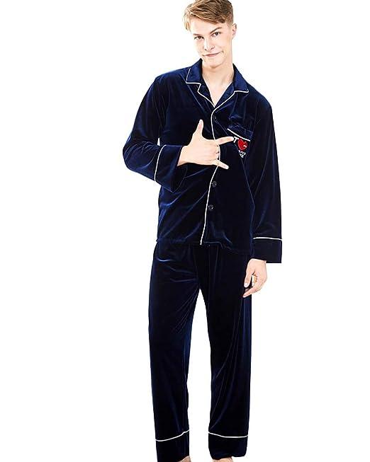 Hombre Pijama de 2 Piezas Conjunto de Pijama para Hombre Suave y Cómodo: Amazon.es: Ropa y accesorios