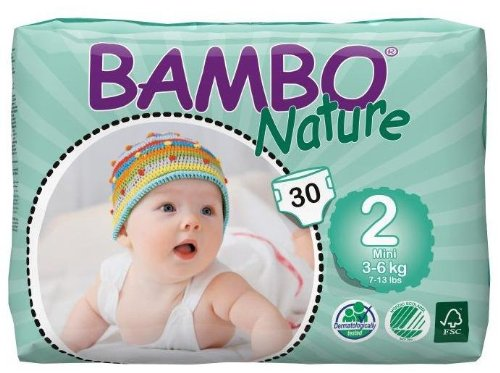 Bambo Nature Diapers-Size 2-120 Count
