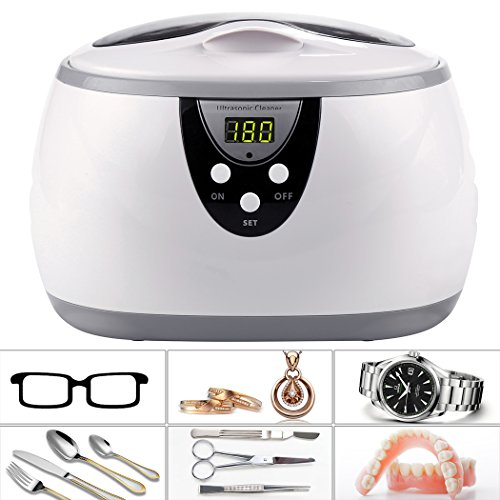 Professional 50W Ultrasonic Polishing Jewelry & Eyeglass Cleaner Machine US Plug
