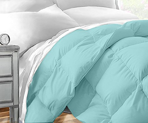 Sleep Restoration Down Alternative Comforter 1400 Series - Best Hotel Quality Hypoallergenic Duvet Insert Bedding - King/Cal King - Aqua