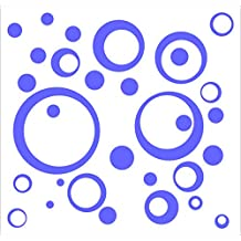 Wall Decor Plus More WDPM162 Wall Vinyl Sticker Decal Circles and  Rings, Purple, 25-Piece