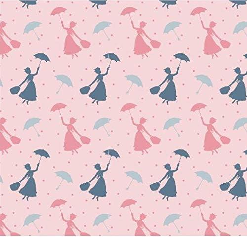 5 unidades Mary Poppins Disney Fat Quarters