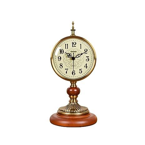 LXJ Reloj de Mesa Reloj silencioso, Reloj de Cuarzo Decorativo de ...