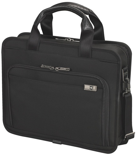 Victorinox Luggage Architecture 3.0 Wainwright 13 Laptop Briefcase, Black, One Size
