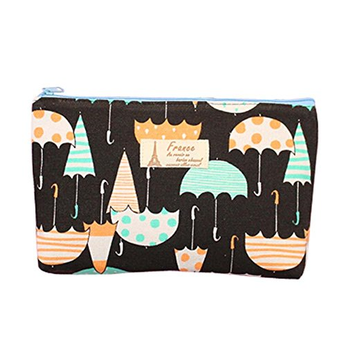 Cosmetic-Bags-Canvas-Black-Color-with-Umbrella-Pattern-Cosmetic-Containers