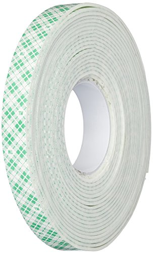 3M 4016 Natural Polyurethane Double Coated Foam Tape, 0.5