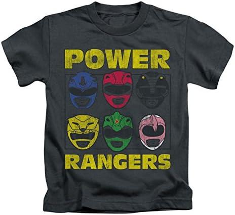 Mighty Morphin Power Rangers Ranger Jefes Little Boys Camisa Charcoal LG (7)