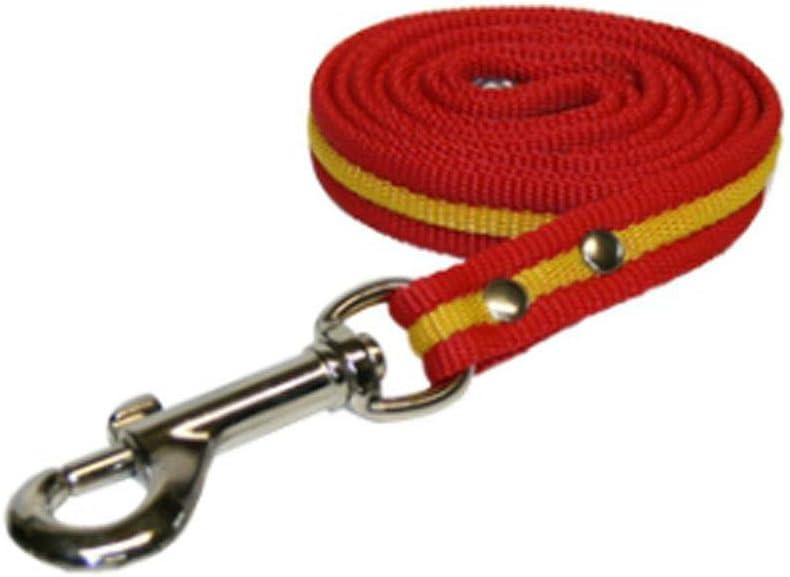 Global Correa de Perro Bandera de España | Ramal para Collar de Perro de algodón | Ramal de 1 m: Amazon.es: Productos para mascotas