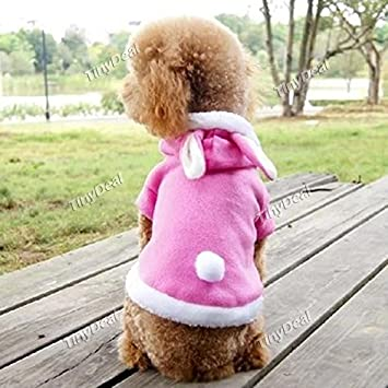 Buy Pink Rabbit Design Cotton Pet Clothes Thick Clothes For Puppy