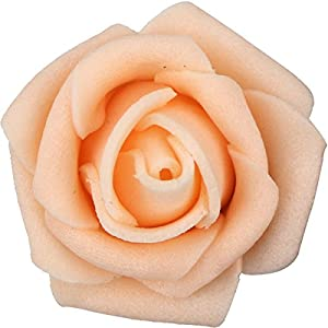 Lightingsky 300pcs 1.7 inch Real Touch Artificial Rose Head, DIY 3D Artificial Flowers for Wedding Bouquets, Room Decoration 2