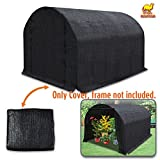 Strong Camel 80% Sunblock Shade Cloth Sun Net Sun Mesh Shade Plant Cover for Greenhouse Gardening for plant cover For Greenhouse Flowers, Plants, Patio Lawn (10' x 7' x 6')