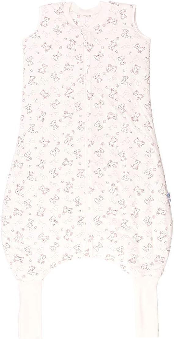 Sacco nanna con piedini per lestate Slumbersac 1,0 Tog disponibile in diverse misure e motivi I Love Teddy 70 cm leggermente imbottito