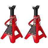 Torin Big Red Steel Jack Stands: Double Locking, 2 Ton Capacity, 1 Pair