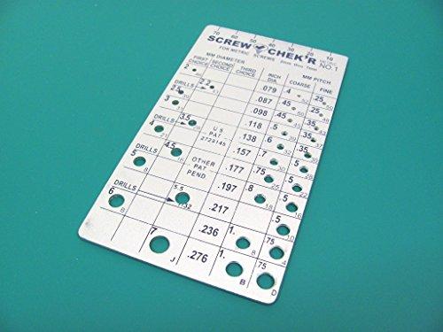Metric Screw Checker (2mm to 7mm) -