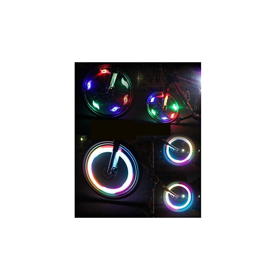 AGPtek® 6 Pcs Bike Bicycle Cycling Tyre Wheel Spoke LED Light Lamp (Multi color)