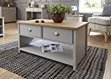 Lancaster Grey Living Room Furniture Range (2 Drawer Coffee Table)