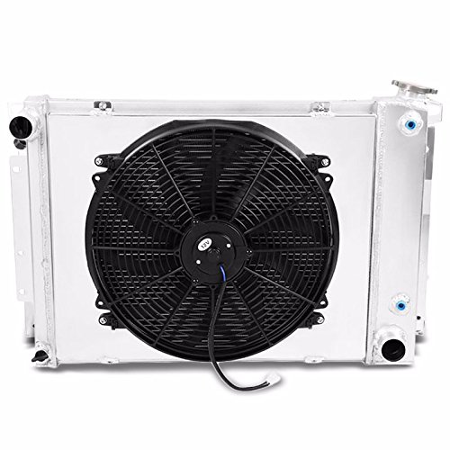 3-Row/Core High Capacity Aluminum Radiator+Slim Fan+Shroud For 67-69 Camaro/Firebird Manual Trans (Aluminum Shroud)
