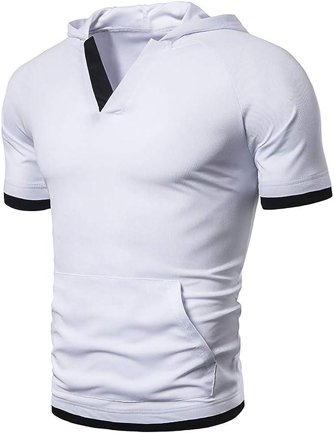 ESAILQ Camiseta de equipación de Manga Corta para Hombre Color ...