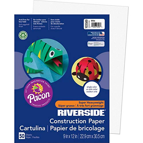 (Riverside 3D Construction Paper, White, 9