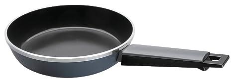 Lacor 27222 - Sarten gris aluminio forjado con diámetro de 22 cm