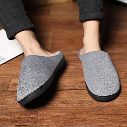 Pantoufles Antidérapant Chaussons qinpin Femmes Maison À Hommes Chaussures De L'intérieur Gris Exquis Chaud Chambre S amp;h Confort 7E85xnwq