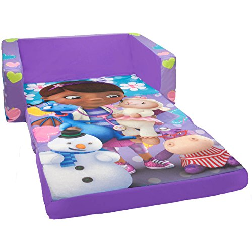 2-in-1 Disney Doc McStuffins Lounging Playing and Sitting, Flip Open Sofa, Multicolor
