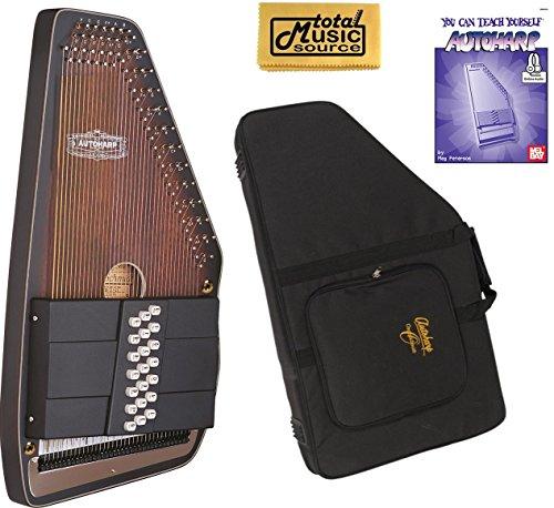 Oscar Schmidt 21 Chord Autoharp, Ovankol Top, Solid Spruce Back, OZARK, OS11021 by Oscar Schmidt