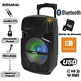 Caixa Acústica Vicini com MP3. Bluetooth. 80WRMS. Entradas Microfone. USB e MicroSD VC7080