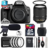 Holiday Saving Bundle for D3300 DSLR Camera + 18-140mm VR Lens + 2yr Extended Warranty + 16GB Class 10 + 4PC Macro Filter Kit + UV Filter + Cleaning Kit + Cleaning Brush - International Version