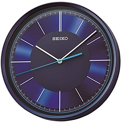 Seiko Wall Clock (30.5 cm x 30.5 cm x 5.2 cm, Blue, QXA612LN) Wall Clocks at amazon
