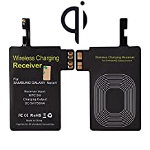 Galaxy S5 Wireless Charging Receiver, TOPINNO® Ultra Thin Qi Standard Wireless Charging Receiver Module for Samsung Galaxy G900 - Black (Compatible with NFC function)