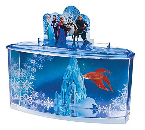 Disney frozen betta fish tank plastic aquarium kit with for Betta fish tanks amazon