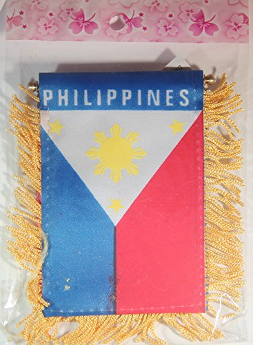 (Philippines Flag Rear View Mirror Mini Banner 4