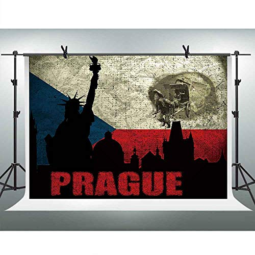 FHZON 10x7ft Prague Backdrop Abstract Background Themed Party Photography Wallpaper Photo Video Studio Booth Props LHFH002 -