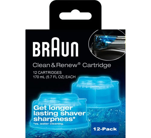 Braun Syncro Shaver System Clean & Renew Refills (12 Count Economy Size) by Braun