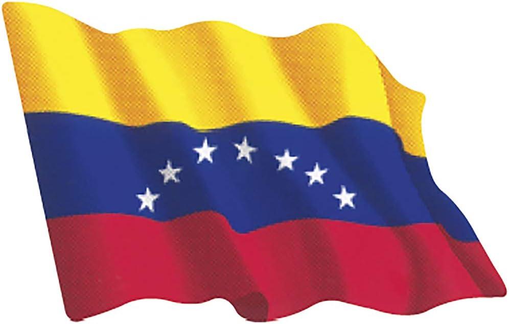 Artimagen Pegatina Bandera Ondeante Venezuela Mediana 80x60 mm.: Amazon.es: Coche y moto