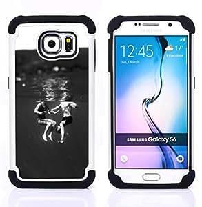 """Pulsar ( Niños Negro Blanco Dulce Mamá"""" ) Samsung Galaxy S6 / SM-G920 SM-G920 híbrida Heavy Duty Impact pesado deber de protección a los choques caso Carcasa de parachoques [Ne"""
