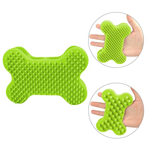Plazenzon Rubber Dog Brush, Pet Bath Massage Shampoo Brushes for Short and Long Hair Dogs Cats, Silicone Grooming…
