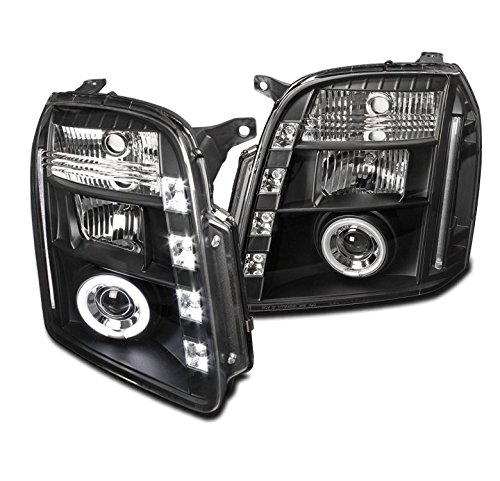 - ZMAUTOPARTS GMC Yukon/Denali/Xl 15 25 CCFL Halo DRL LED Projector Headlights Black