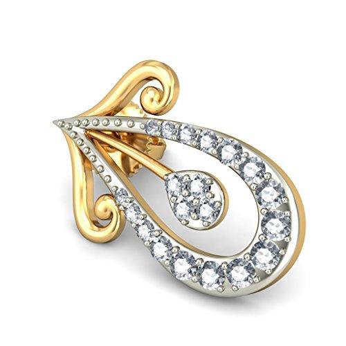 Or jaune 18K 0,33CT TW White-diamond (IJ | SI) Boucles d'oreille à tige