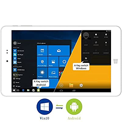CHUWI Hi8 8 inch Windows 10/Android 4.4 Dual Boot Tablet PC, with Features of Intel Quad Core, Full HD 1920*1200 IPS Screen, 2G RAM/32G ROM and Winkey