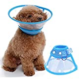 FOREYY Recovery Pet Cone E-Collar for Cats and Small Dogs - Elizabethan Collar with Breathable Soft Edge, Plastic Snap Closure and Stainless Steel D Ring (Blue, XL)
