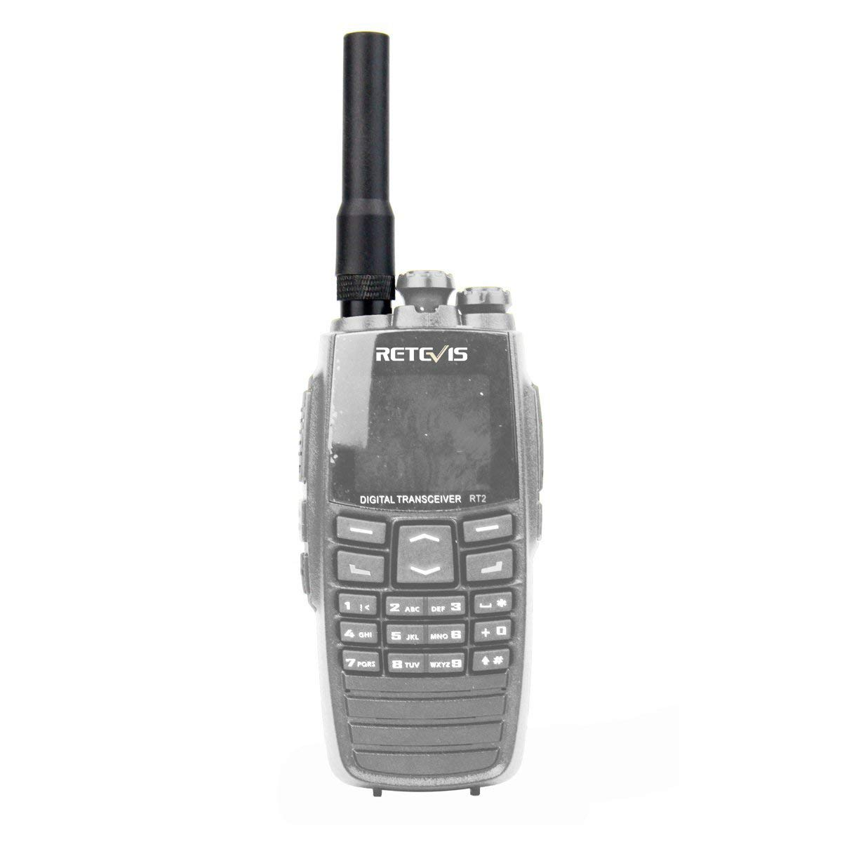 Retevis Walkie Talkie Antenna SMA-M Dual Band VHF/UHF Antenna for Baofeng BF-UV3R YAESU VX-1R Retevis RT1 RT2 RT82 TYT UVF8 Two Way Radio(1 Pack)