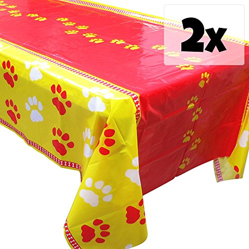 Puppy Party Tablecovers (2), Paw Puppy Decorations, Birthday Supplies - Puppy Paw