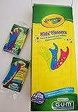 CRAYOLA KIDS FLOSSER - 48 PACKS OF 3 INIVIDUALLY WRAPPED PER BOX