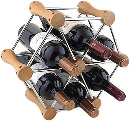 Shocly 6 Botellas EstanteríA De Vino Botellero para Estante Botellas Agua O Refrescos Escaparate Estante Tinto DecoracióN Moda Creativo