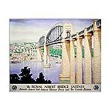 10x8 Print of The Royal Albert Bridge, Saltash , GWR poster, 1945 (9997742)