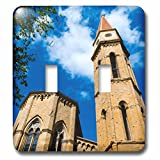3dRose Danita Delimont - Tuscany - Bell tower, Cathedral of San Donato, Arezzo, Tuscany, Italy. - Light Switch Covers - double toggle switch (lsp_249327_2)